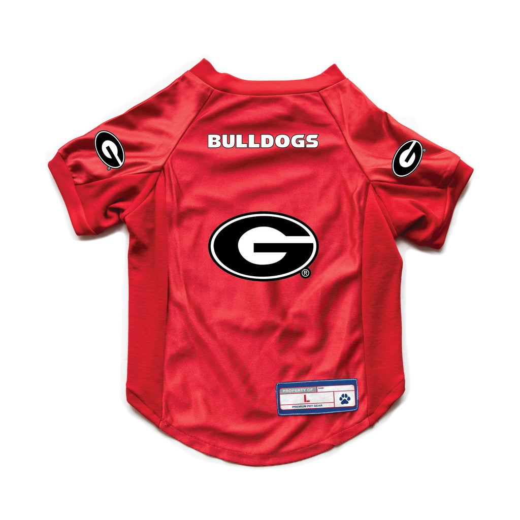 Georgia Bulldogs Pet Stretch Jersey - staygoldendoodle.com