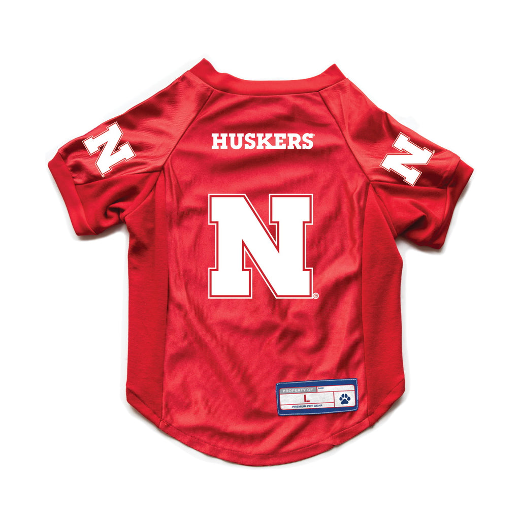 Nebraska Huskers Pet Stretch Jersey - staygoldendoodle.com