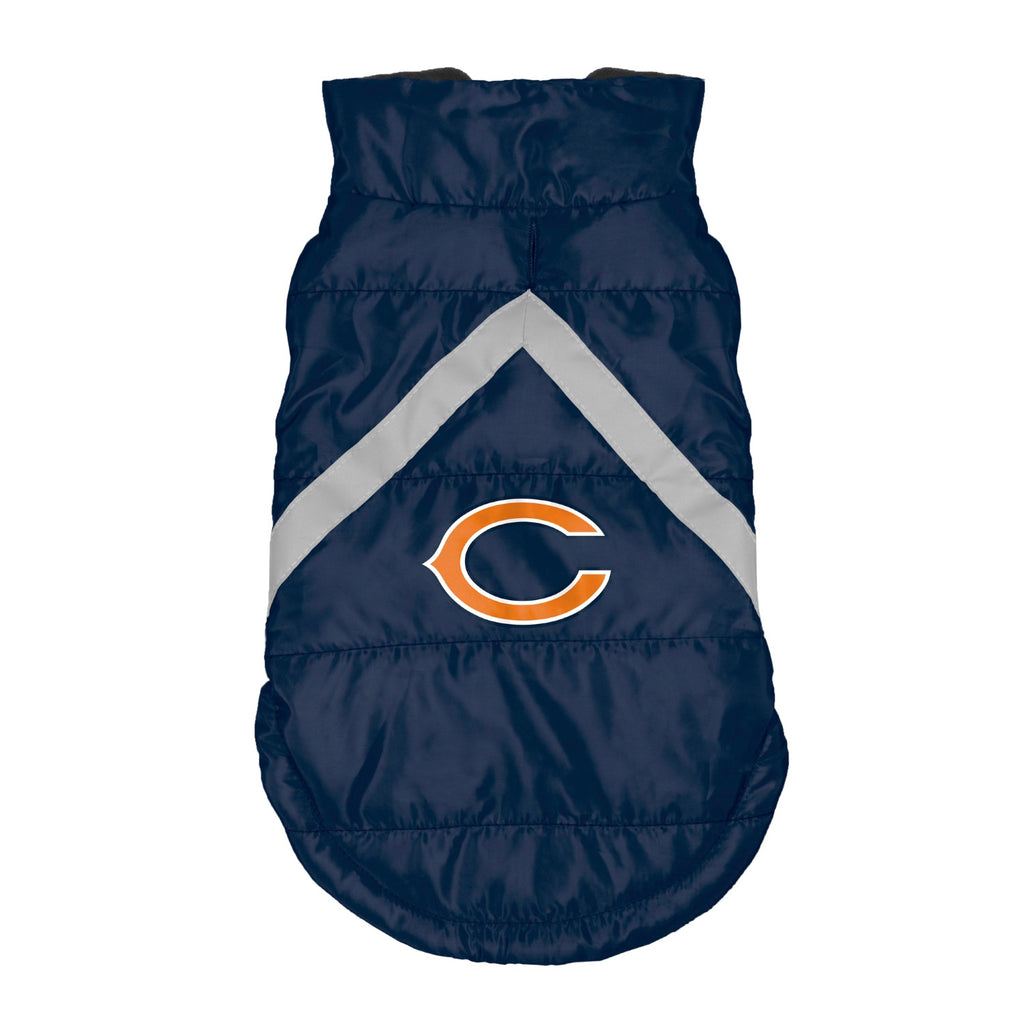 Chicago Bears Pet Puffer Vest - staygoldendoodle.com