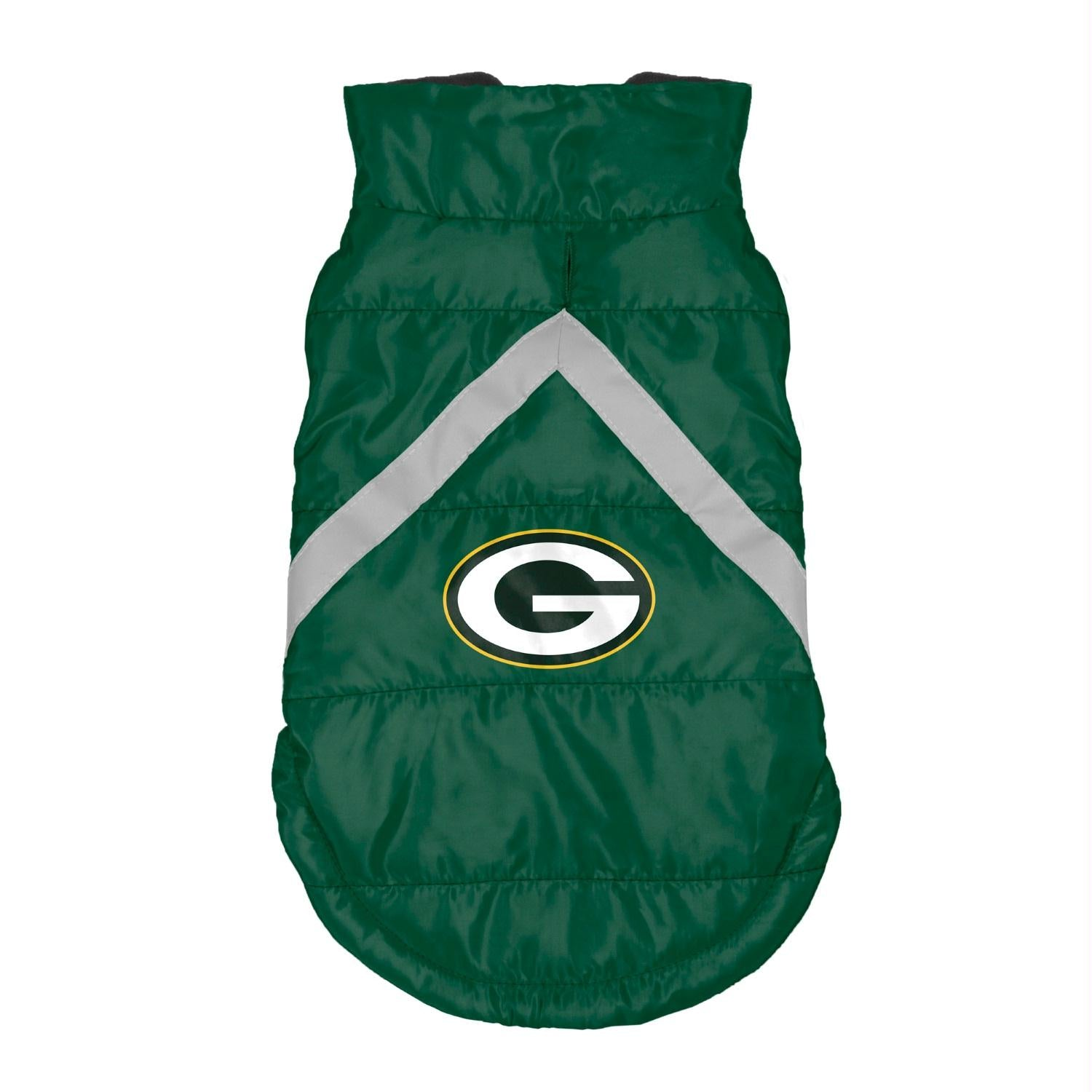 Green Bay Packers Pet Puffer Vest - staygoldendoodle.com