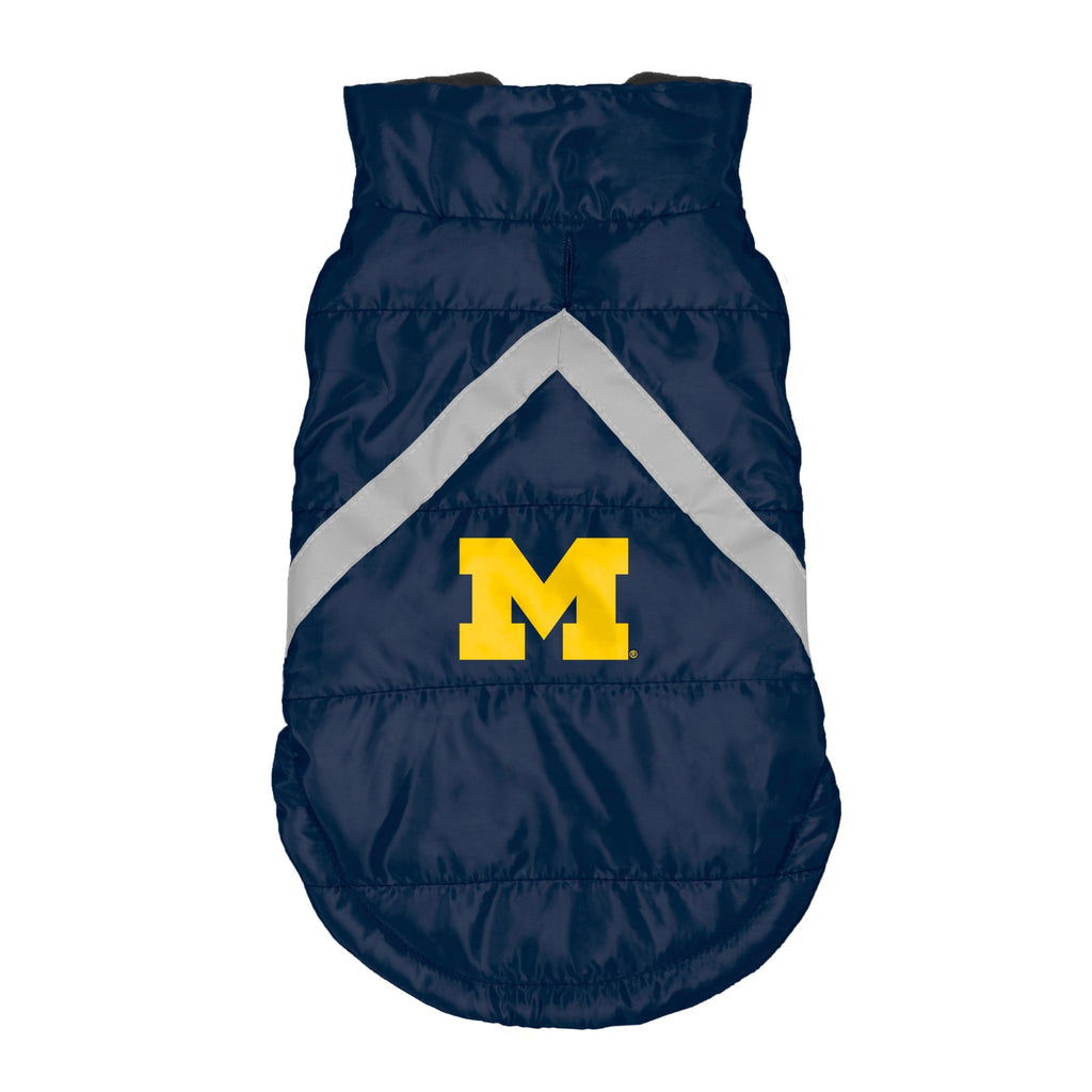 Michigan Wolverines Pet Puffer Vest - staygoldendoodle.com