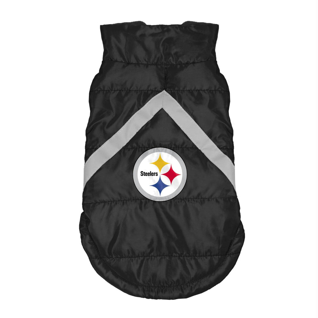 Pittsburgh Steelers Pet Puffer Vest - staygoldendoodle.com