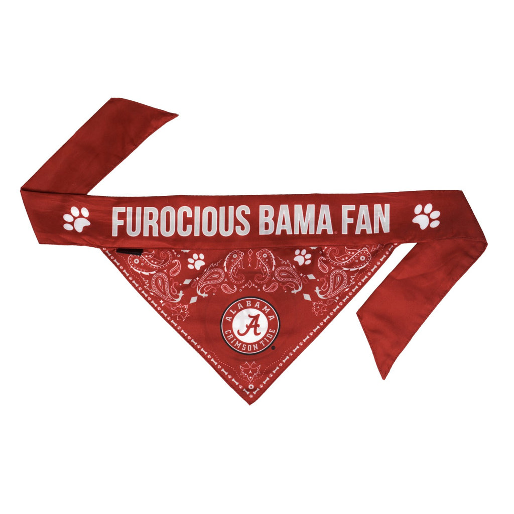 Alabama Crimson Tide Pet Reversible Paisley Bandana - staygoldendoodle.com