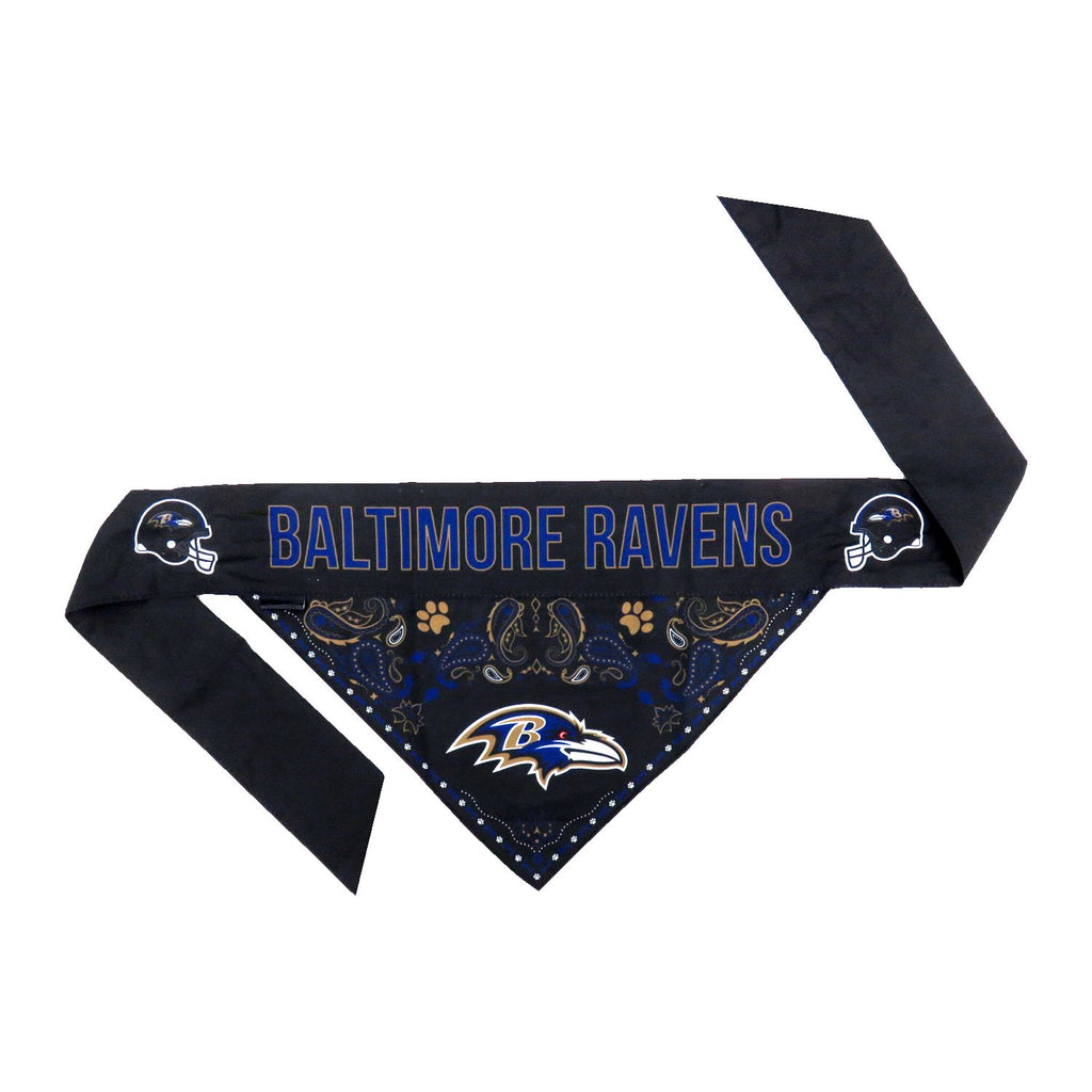 Baltimore Ravens Pet Reversible Paisley Bandana