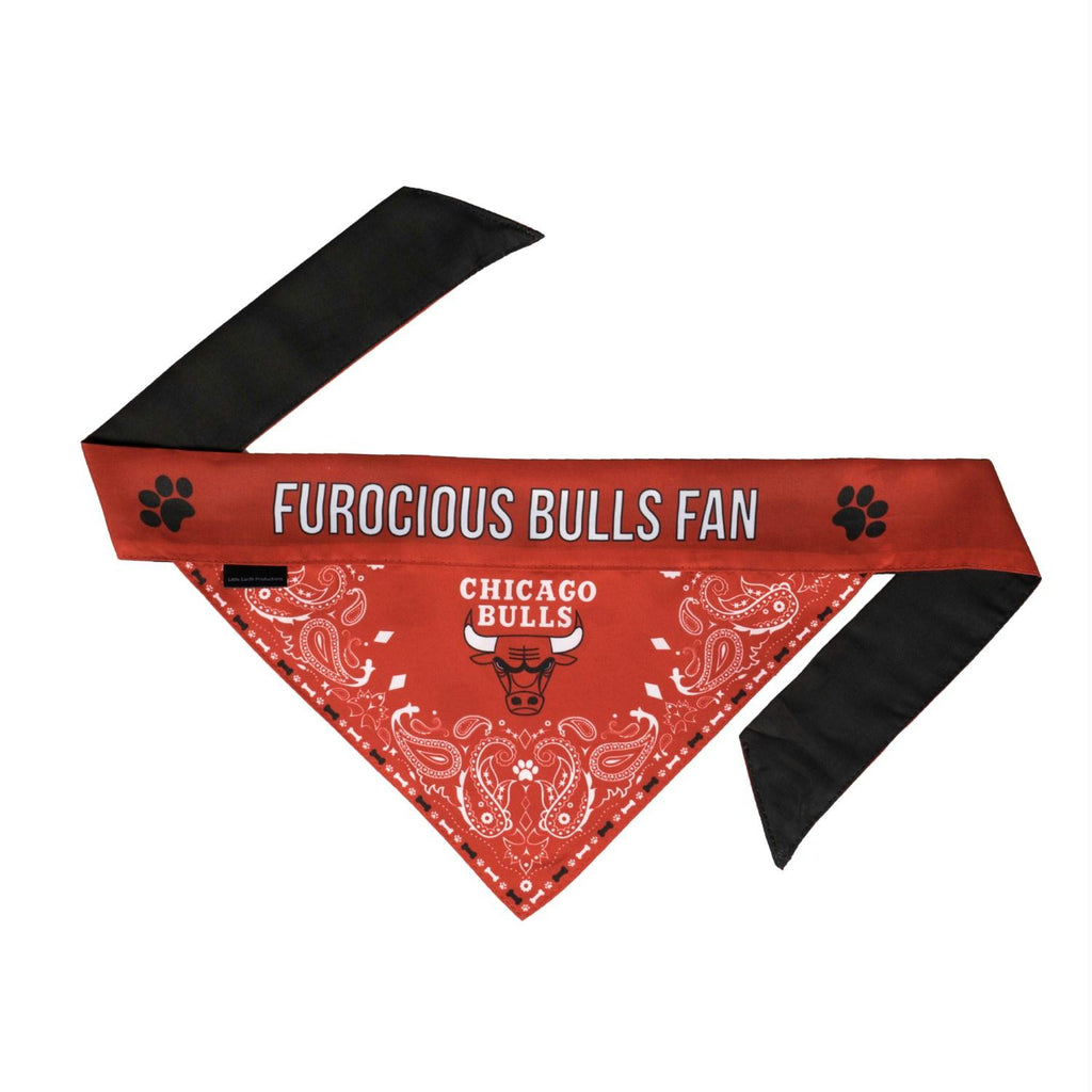 Chicago Bulls Pet Reversible Paisley Bandana - staygoldendoodle.com