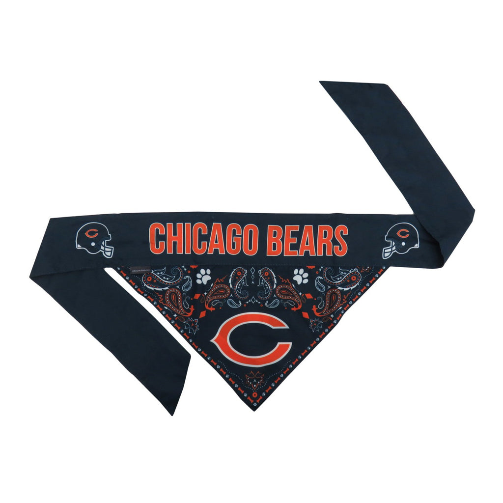 Chicago Bears Pet Reversible Paisley Bandana - staygoldendoodle.com