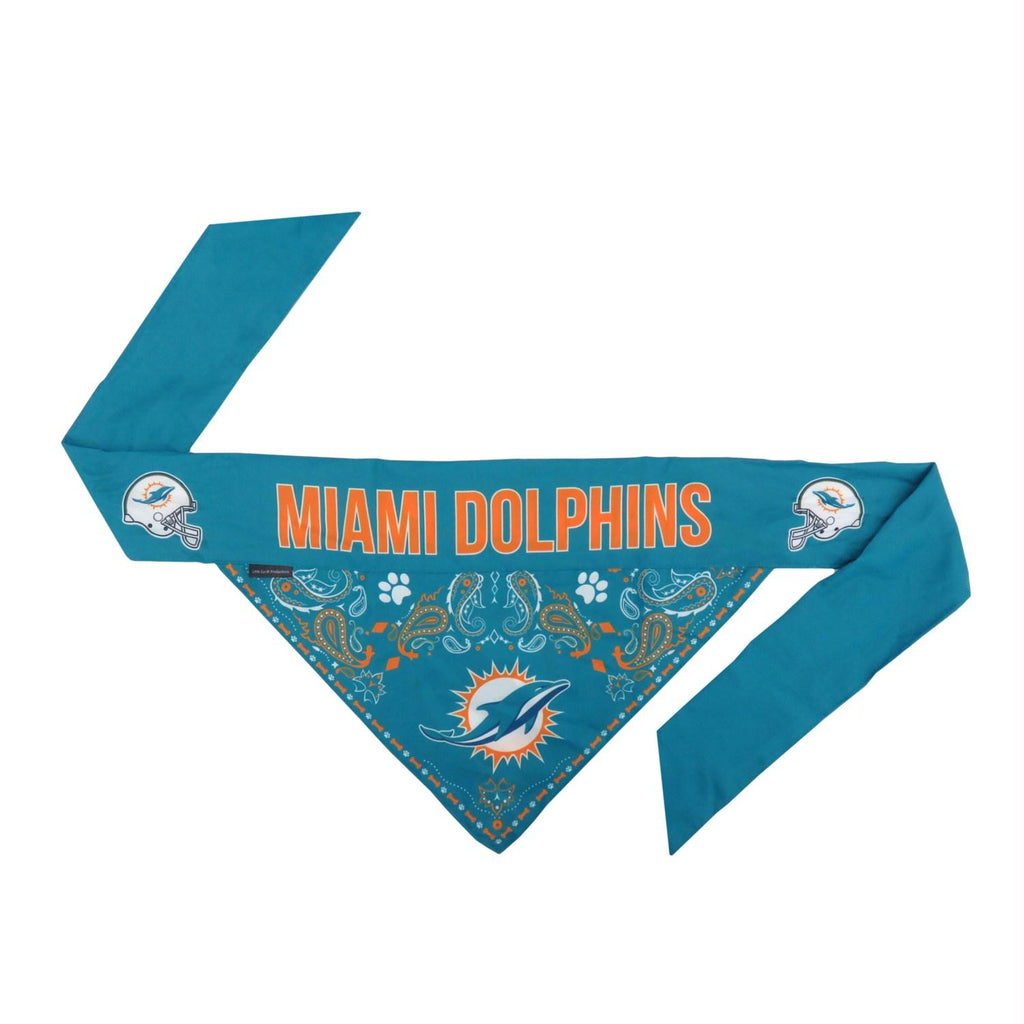 Miami Dolphins Pet Reversible Paisley Bandana - staygoldendoodle.com
