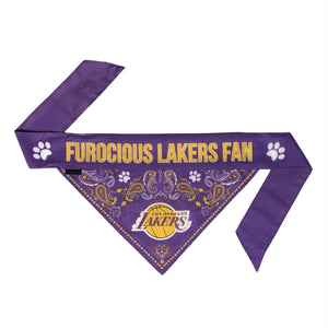Los Angeles Lakers Pet Reversible Paisley Bandana - staygoldendoodle.com