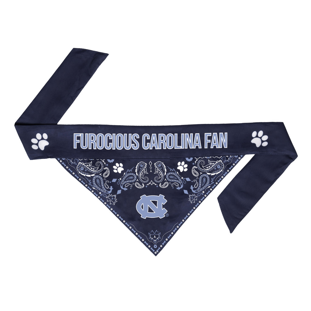 North Carolina Tarheels Pet Reversible Paisley Bandana