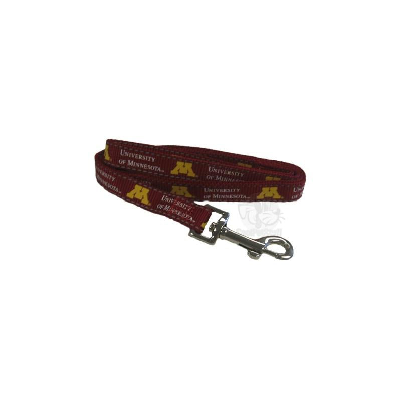 Minnesota Golden Gophers Pet Reflective Nylon Leash - staygoldendoodle.com