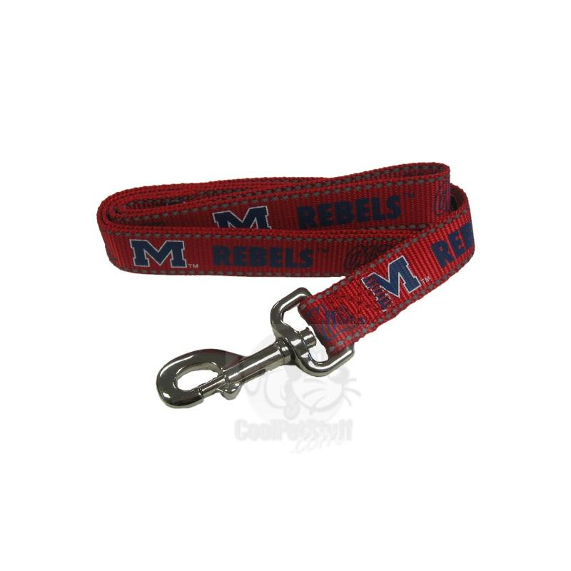 Ole Miss Rebels Pet Reflective Nylon Leash - staygoldendoodle.com