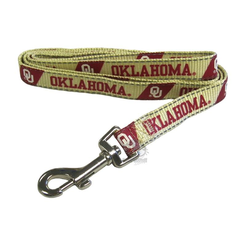 Oklahoma Sooners Pet Reflective Nylon Leash - staygoldendoodle.com