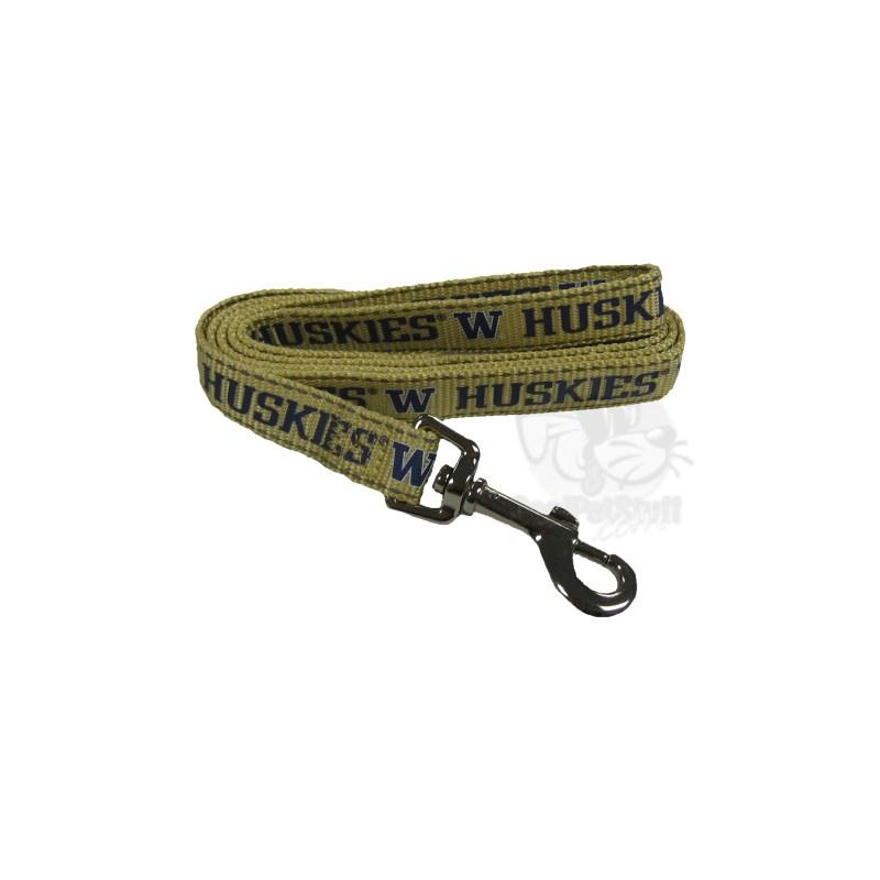 Washington Huskies Pet Reflective Nylon Leash - staygoldendoodle.com