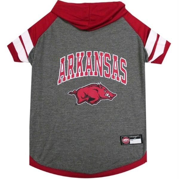 Arkansas Razorbacks Pet Hoodie T-Shirt - staygoldendoodle.com