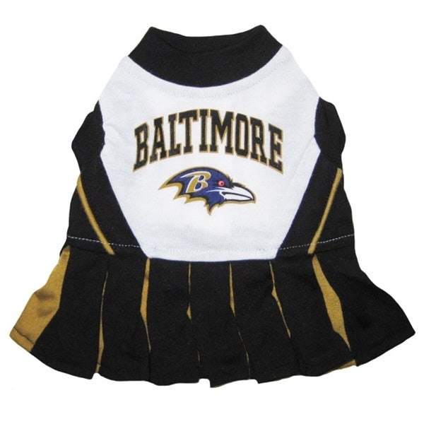 Baltimore Ravens Cheerleader Dog Dress - staygoldendoodle.com