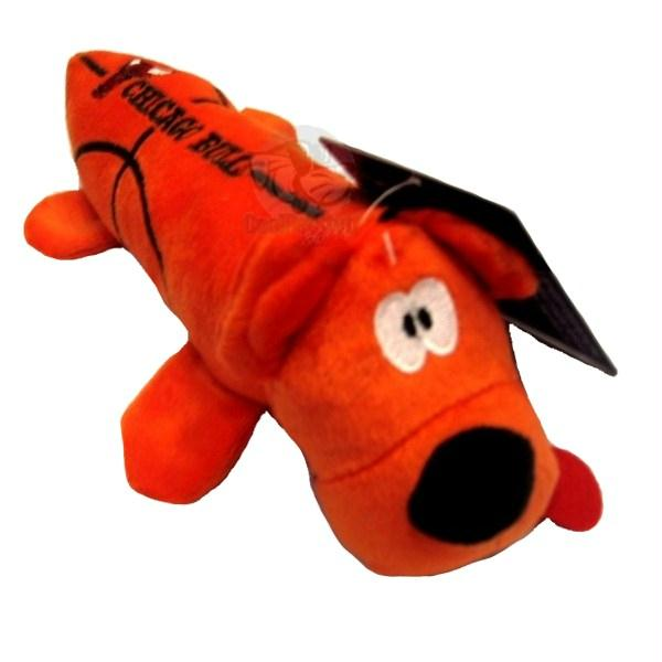 Chicago Bulls Plush Tube Pet Toy - staygoldendoodle.com