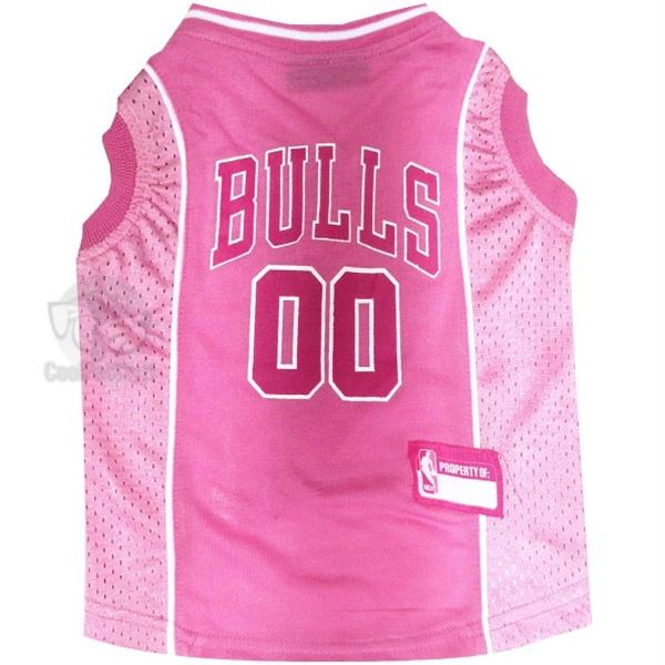 Chicago Bulls Pink Pet Jersey - staygoldendoodle.com