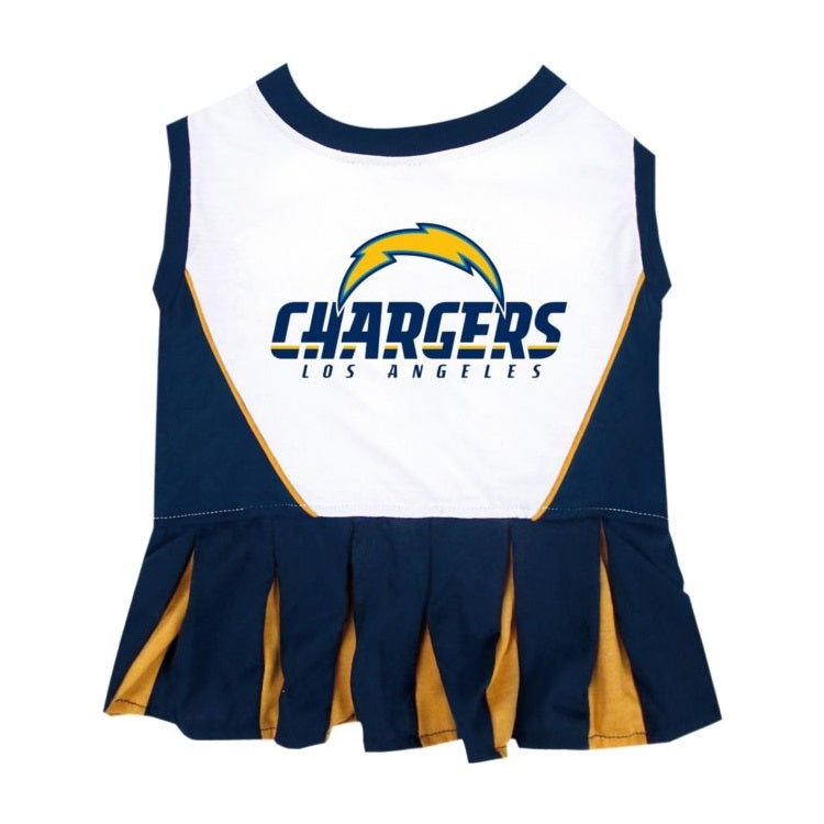 Los Angeles Chargers Cheerleader Pet Dress - staygoldendoodle.com