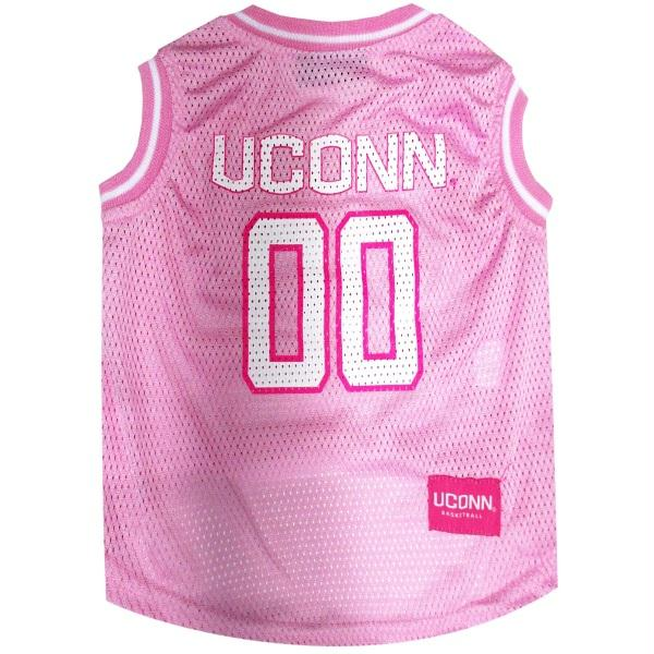UConn Huskies Pet Pink Basketball Jersey - staygoldendoodle.com
