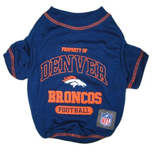 Denver Broncos Dog T-Shirt - staygoldendoodle.com
