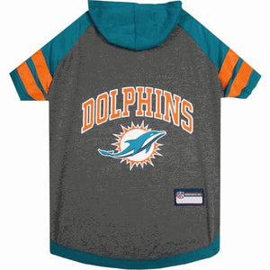 Miami Dolphins Pet Hoodie T-Shirt - staygoldendoodle.com