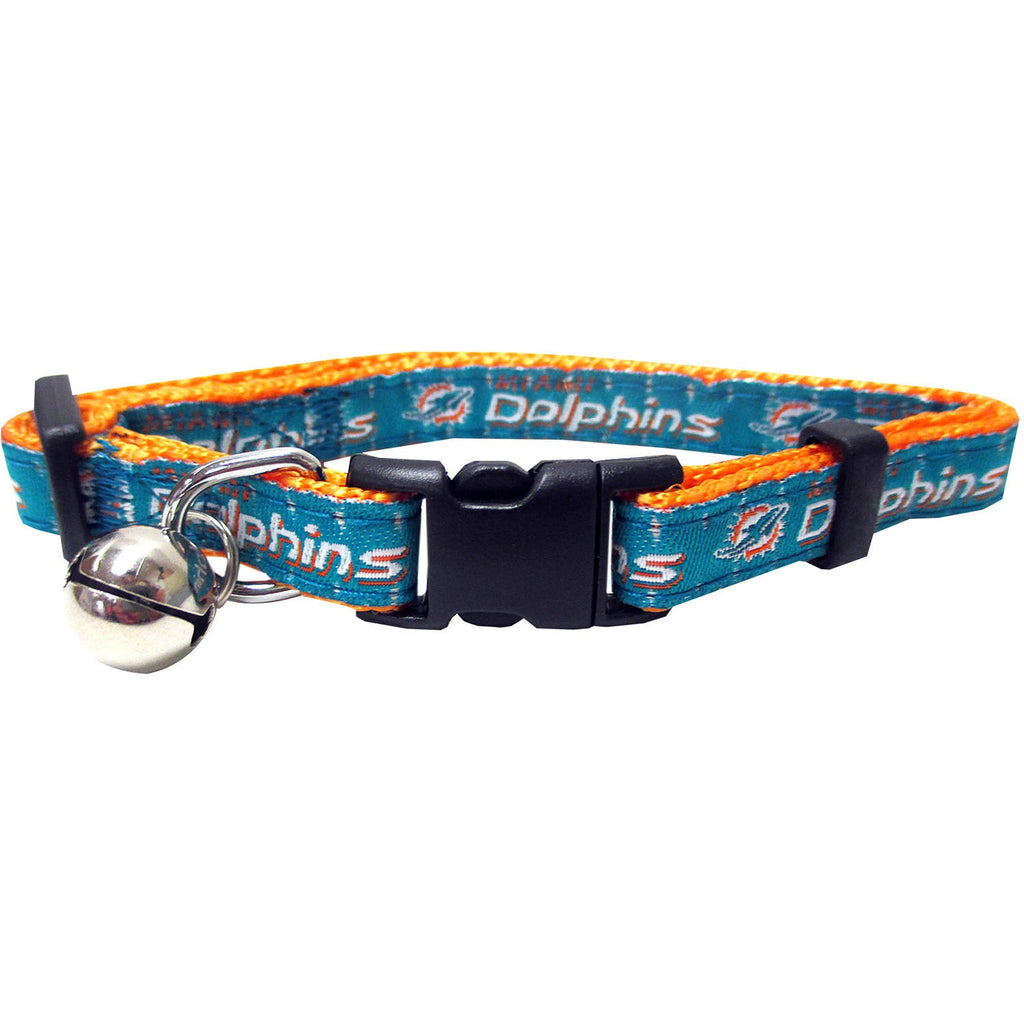 Miami Dolphins Breakaway Cat Collar - staygoldendoodle.com