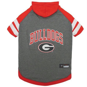Georgia Bulldogs Pet Hoodie T-Shirt - staygoldendoodle.com