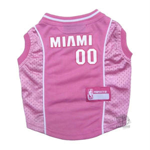 Miami Heat Pink Pet Jersey - staygoldendoodle.com