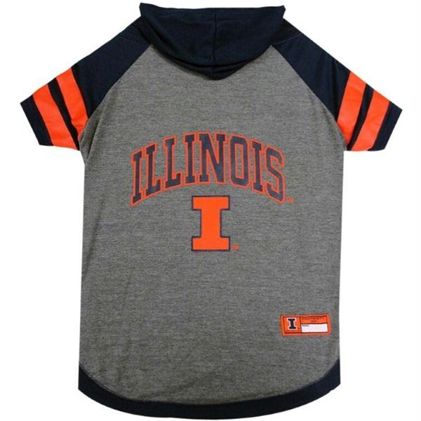 Illinois Fighting Illini Pet Hoodie T-Shirt - staygoldendoodle.com