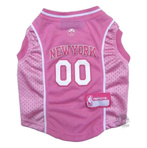 New York Knicks Pink Pet Jersey - staygoldendoodle.com