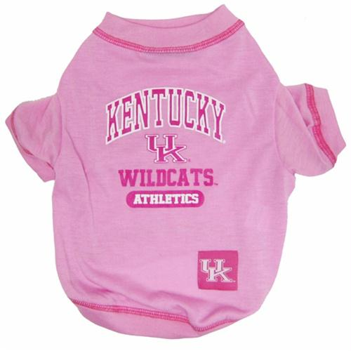 Kentucky Wildcats Pink Dog Tee Shirt - staygoldendoodle.com