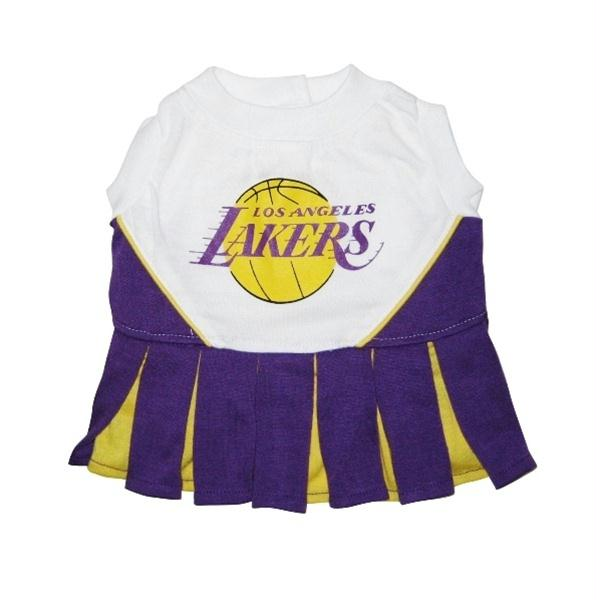 Los Angeles Lakers Cheerleader Dog Dress - staygoldendoodle.com