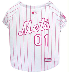 New York Mets Pink Pet Jersey - staygoldendoodle.com