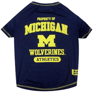Michigan Wolverines Pet Tee Shirt - staygoldendoodle.com
