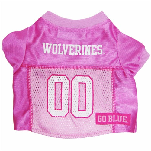 Michigan Wolverines Pink Dog Jersey - staygoldendoodle.com