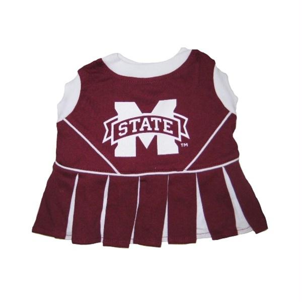 Mississippi State Bulldogs Cheerleader Dog Dress - staygoldendoodle.com