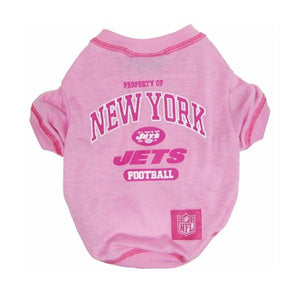 New York Jets Pink Dog T-Shirt - staygoldendoodle.com