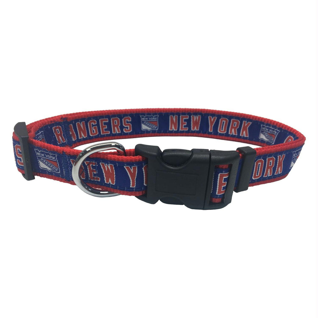New York Rangers Pet Collar by Pets First - staygoldendoodle.com