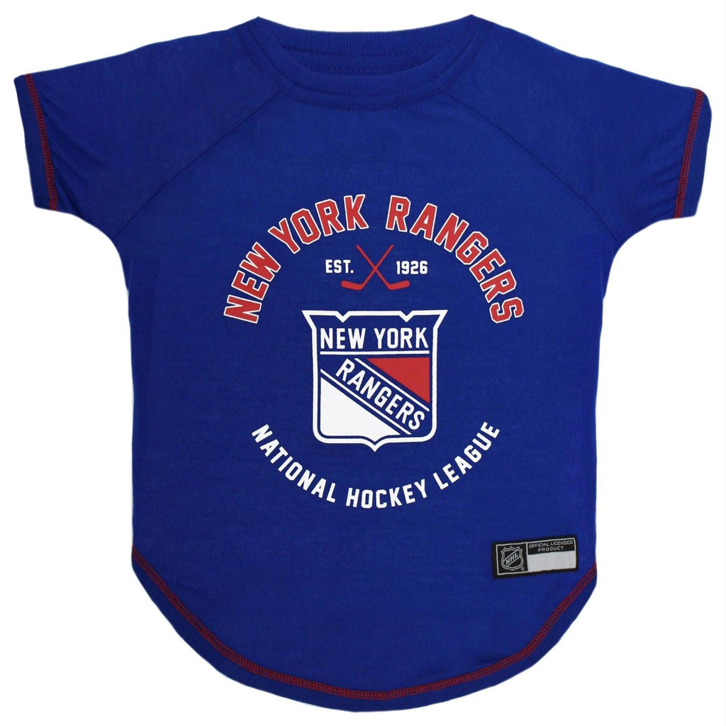 New York Rangers Pet T-Shirt - staygoldendoodle.com