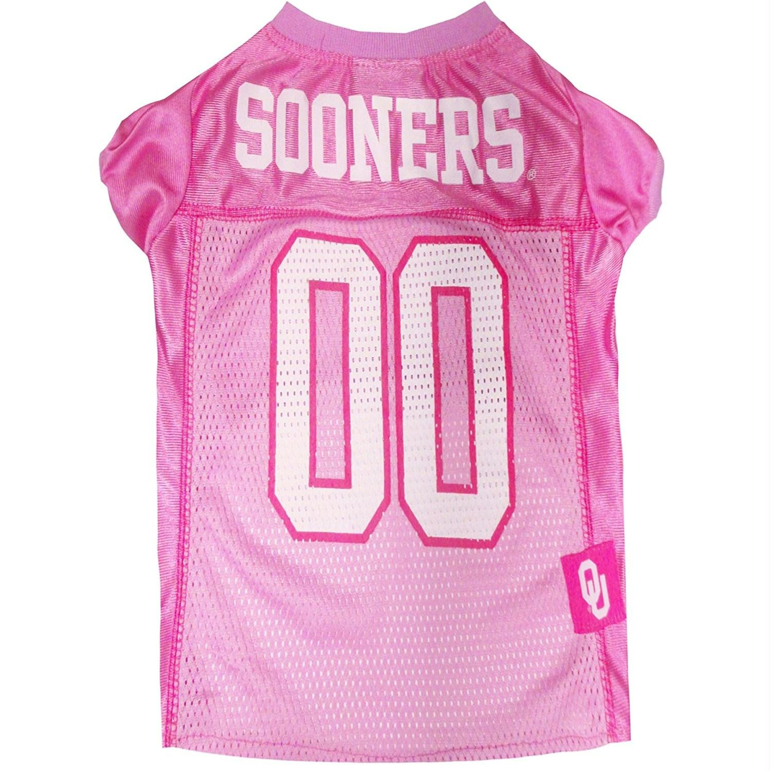 Oklahoma Sooners Pink Pet Jersey - staygoldendoodle.com
