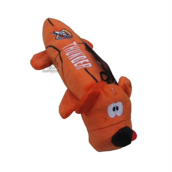 Oklahoma City Thunder Plush Tube Pet Toy - staygoldendoodle.com