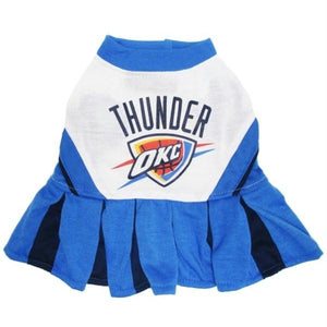 Oklahoma City Thunder Cheerleader Pet Dress - staygoldendoodle.com