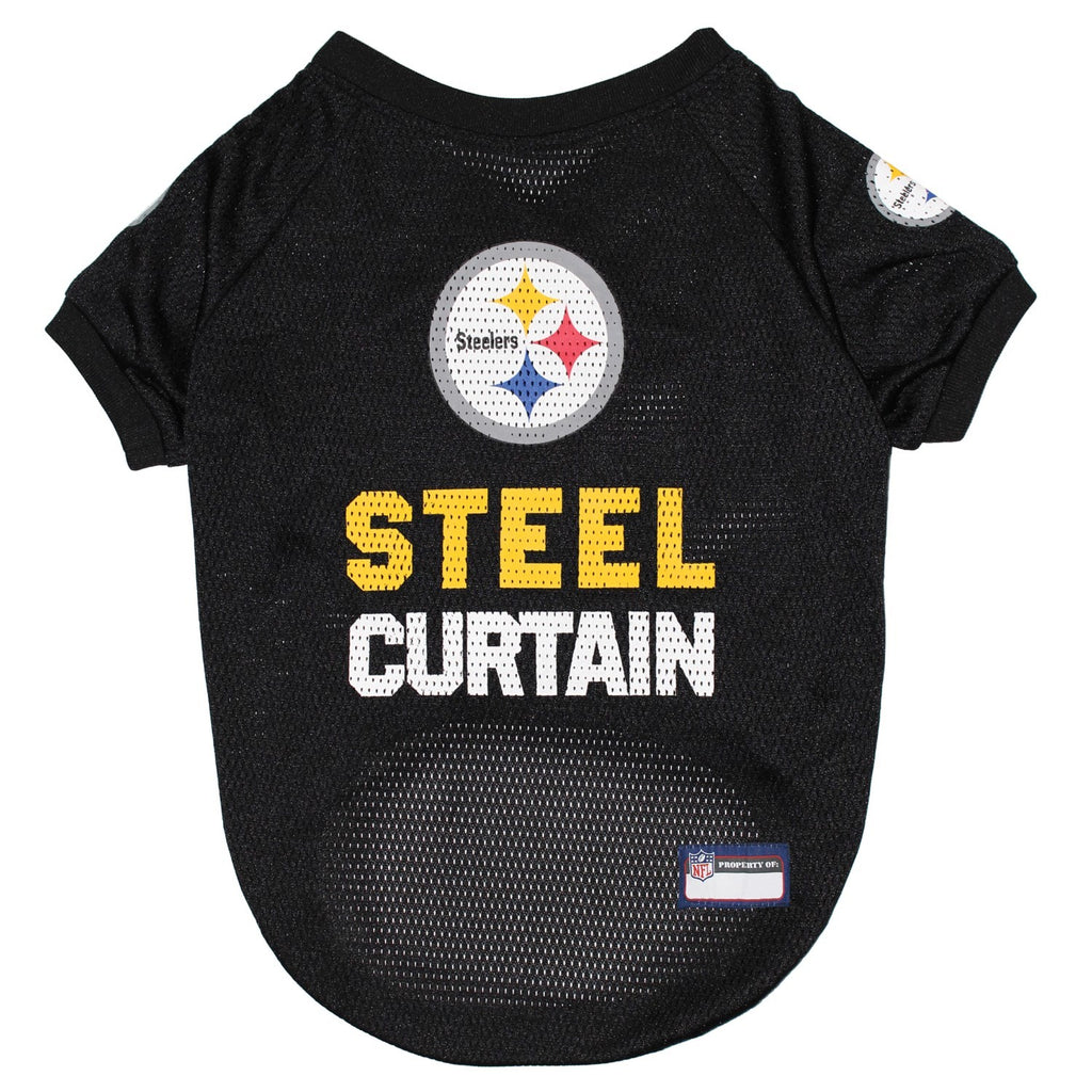 Pittsburgh Steelers Steel Curtain Pet Jersey - XS - staygoldendoodle.com
