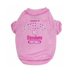 Pittsburgh Steelers Pink Dog T-Shirt - staygoldendoodle.com