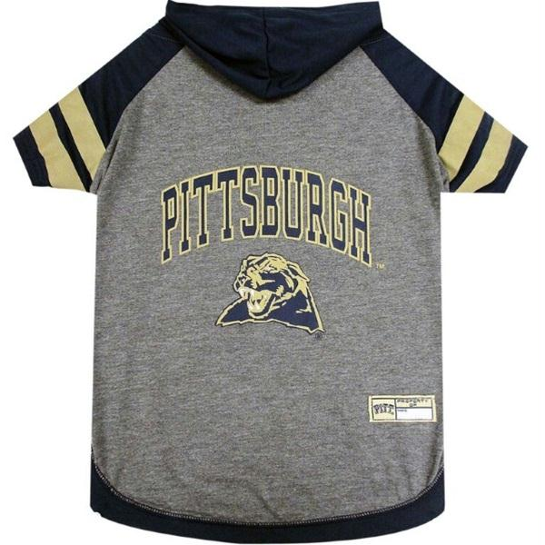 Pittsburgh Panthers Pet Hoodie T-Shirt - staygoldendoodle.com