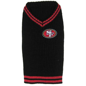 San Francisco 49ers Dog Sweater - staygoldendoodle.com