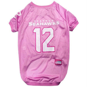 "Seattle Seahawks ""12th Man"" Pink Pet Jersey - staygoldendoodle.com"