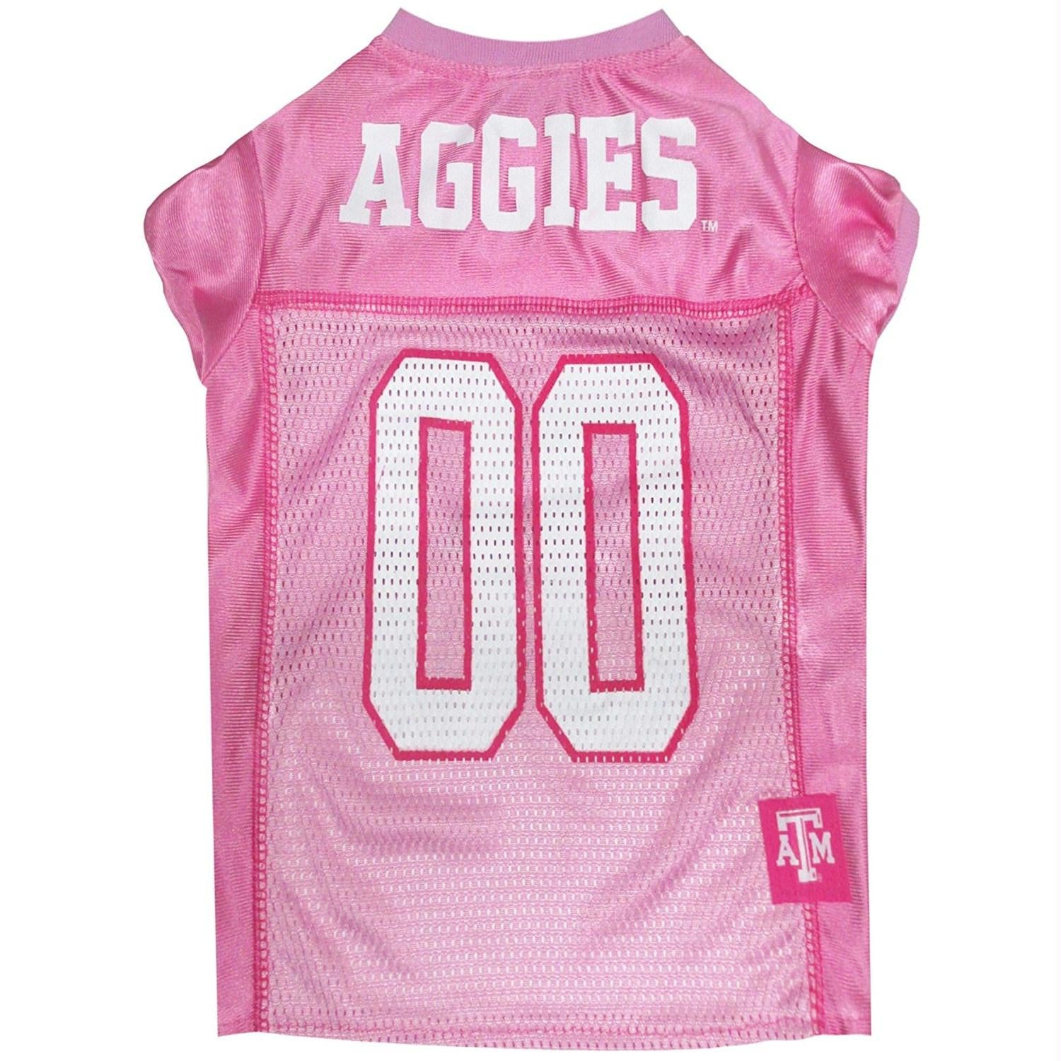 Texas A&M Aggies Pink Pet Jersey - staygoldendoodle.com