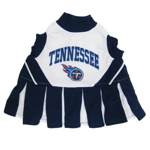 Tennessee Titans Cheerleader Dog Dress - staygoldendoodle.com