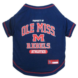 Ole Miss Rebels Pet Tee Shirt - staygoldendoodle.com